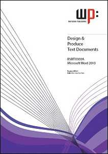 DESIGN & PRODUCE TEXT DOCUMENTS WORD 2010